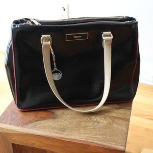 Black Leather DKNY Bag